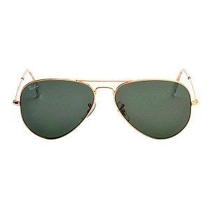 Óculos de Sol Ray-Ban RB3025 Aviador verde / dourado