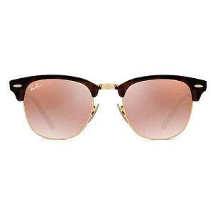 Óculos de Sol Ray-Ban RB3016 Clubmaster tartaruga / rosa espelhado