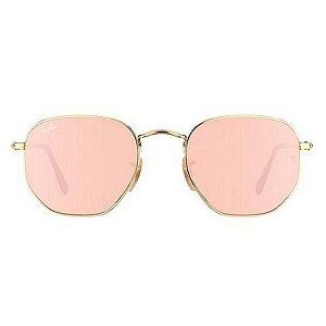 Óculos de Sol Ray-Ban RB3548 Hexagonal rosa espelhado