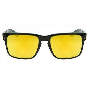 Óculos de Sol Oakley Holbrook dourado espelhado - polarizado