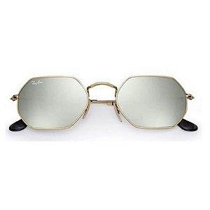 Óculos de Sol Ray-Ban RB3556 Octagonal dourado / prata