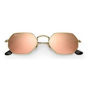 Óculos de Sol Ray-Ban RB3556 Octagonal rosa espelhado