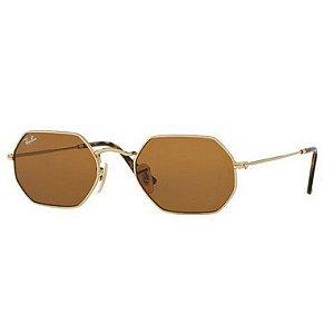 Óculos de Sol Ray-Ban RB3556 Octagonal marrom / dourado