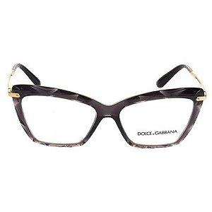Armação óculos Dolce & Gabbana 5025 504 - preto/dourado
