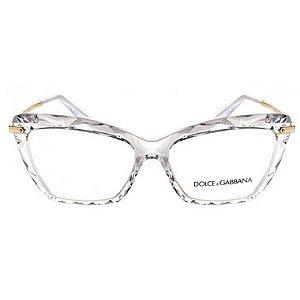 Armação óculos Dolce & Gabbana 5025 504 - cristal/dourado