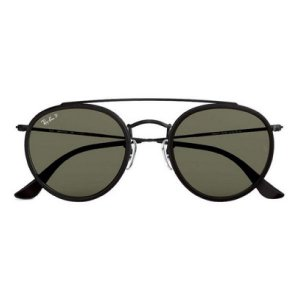 Óculos de Sol Ray-Ban RB3647 Round Double Bridge verde