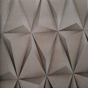 Papel de Parede Vinílico Importado Geométrico 3D Dourado