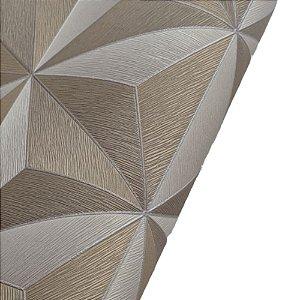 Papel de Parede 3D Geométrico Tons Dourado Rolo de 53x1000cm