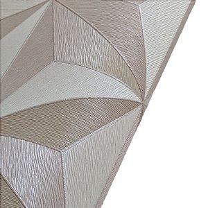 Papel de Parede 3D Geométrico Tons Bege Rolo de 53x1000cm