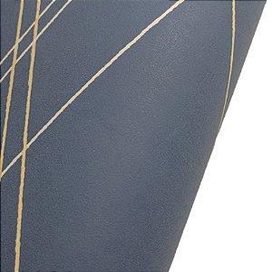 Papel de Parede Geométrico Tons de Azul Rolo de 53x1000cm