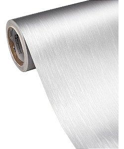 Adesivo Para Envelopar Móveis Aço Escovado (Vendido Por Metro) 100cm Largura x 100cm Comprimento (Cobre 1m² de Área)