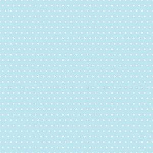 Adesivo de Parede Personalizado Poá em Tons de Azul Para Quarto Infantil