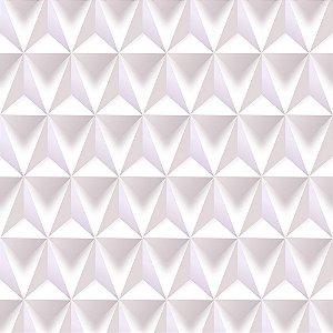 Adesivo de Parede Personalizado Gesso Branco Geométrico Abstratos 3D Para Quarto, Sala, Escritório, Cozinha