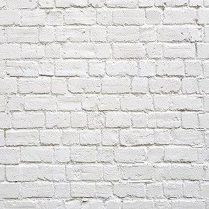 Adesivo de Parede Personalizado Tijolinho Branco Para Escritório, Corredor, Sala, Quarto Jovem