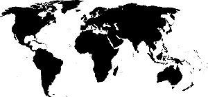 Adesivo de Parede Personalizado Mapa Preto e Branco Para Escritório, Recepção, Quarto Jovem