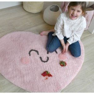 TAPETE INFANTIL 90 x 105 CM LORENA CANALS HAPPY HEART