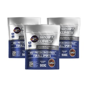 COMBO SPORT WHEY CHOCOLATE - 3 UNIDADES