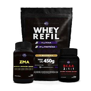 COMBO WHEY REFIL + BCAA + ZMA