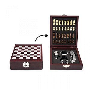Kit Vinho e Xadrez - Combinação Perfeita