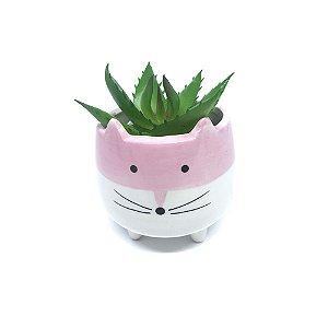Mini Cachepô - Gatinho Rosa