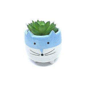 Mini Cachepô - Gatinho Azul