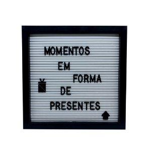 Quadro Decorativo - Letter Board Preto P