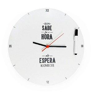 Relógio de Parede Interativo - Quem Sabe Faz a Hora