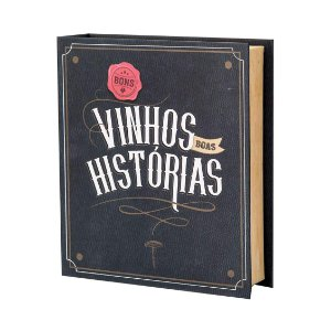 Caixa Livro Abridor de Vinhos