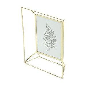 Porta Retrato Aramado Rústico - Dourado