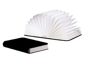 Luminária Livro Sem Fio - 7 cores - Capa Preta
