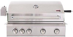 Churrasqueira a Gás Florence 4 Queimadores + Infrared + Rotisserie