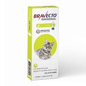 Bravecto Antipulgas e Carrapatos Transdermal para Gatos de 1,2 a 2,8 kg