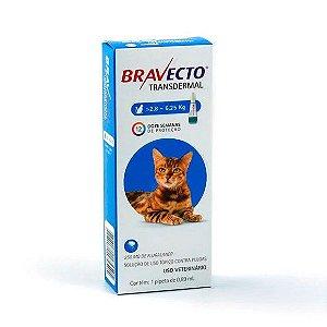 Bravecto Antipulgas e Carrapatos Transdermal para Gatos de 2,8 a 6,25 kg