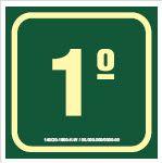 Placa de Sinalização de Indicador de Pavimento Fotoluminescentes - 1º Andar