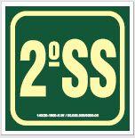 Placa de Sinalização de Indicador de Pavimento Fotoluminescentes - 2º Sub-Solo