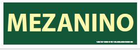 Placa de Sinalização de Indicador de Pavimento Fotoluminescentes - Mezanino