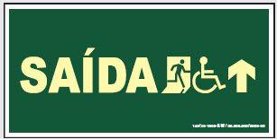 Placa de Sinalização de Saída para Cadeirante em Frente