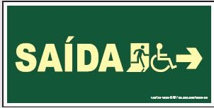 Placa de Sinalização de Saída para Cadeirante à Direita