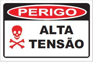 Placa de Sinalização de Advertência Perigo Alta Tensão
