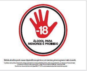 Placa de Sinalização de Advertência Proibido Bebida para Menores