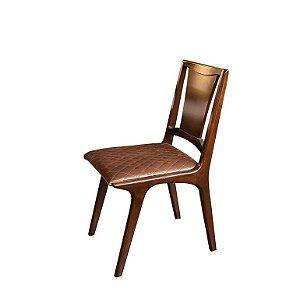 Cadeira com Assento Estofado em Veludo