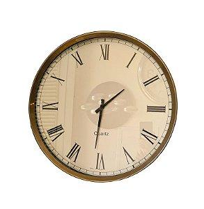 Relógio De Parede - 48cm Diâm. - Maquinário de Quartzo