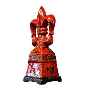 Enfeite Centro de Mesa Decorativo em Cerâmica Vermelho