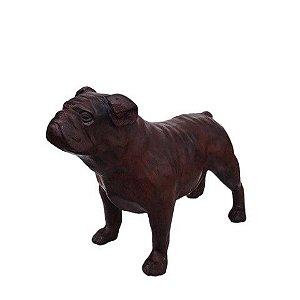 Escultura De Cachorro Buldogue Inglês - Ferro Fundido