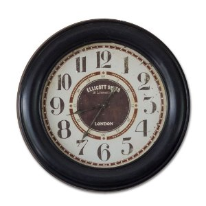 Relógio De Parede Madeira - 80cm Diâmetro - Modelo Lombard