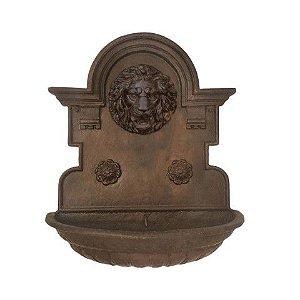 Fonte - Chafariz de Parede Em Ferro Fundido Envernizado Leão