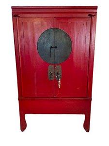 Armário Chinês Vermelho 2 Portas