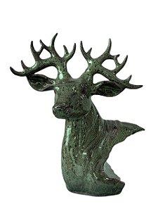 Escultura Cabeça de Alce Cervo Veado de Porcelana