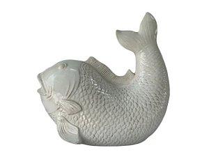Enfeite Peixe de Porcelana