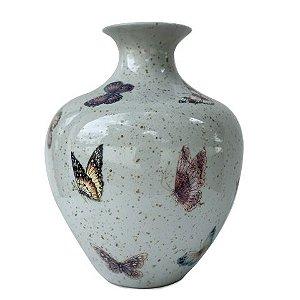 Vaso de Porcelana com Borboletas